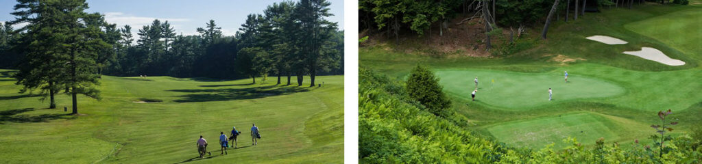 Collage of Hanover Country Club golf course