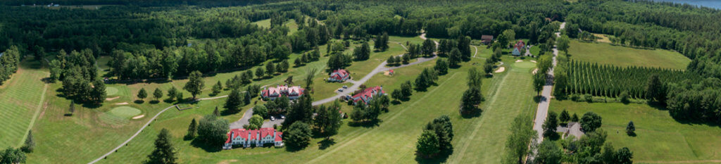 Bird's eye view of the Bridgton Highlands course
