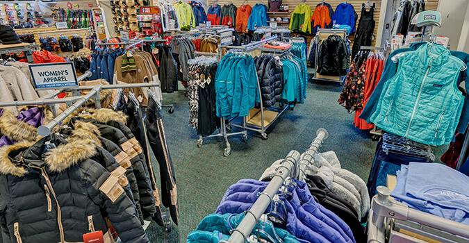 ski jackets and apparel