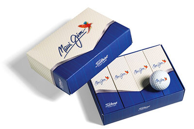 Sample image of golf balls with custom logo imprinted.