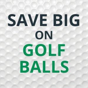 Save Big on Golf Balls graphic