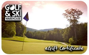 Image of gift card graphic of golf course green with flag in hole