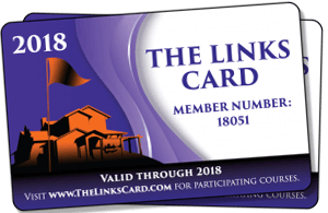 Sample of the Links Card discount card