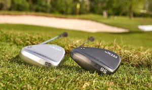 Cleveland RTX4 wedges laying in the grass