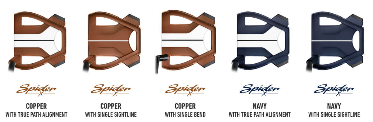 TaylorMade SpiderX lineup